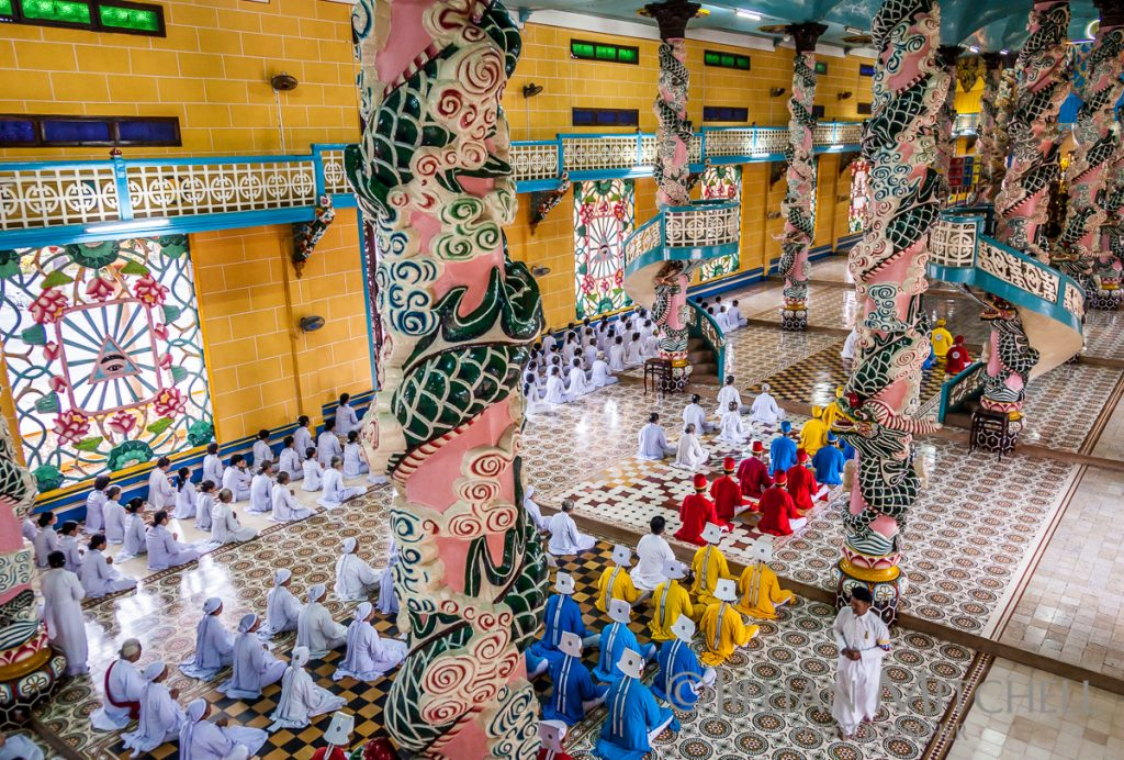 Cao Dai Service, Holy See, Tay Ninh, Vietnam