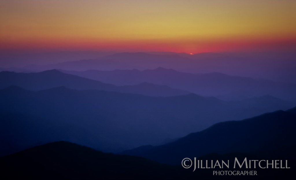 Sunrise - Wutaishan is one of China's 5 sacred peaks in Buddhism.