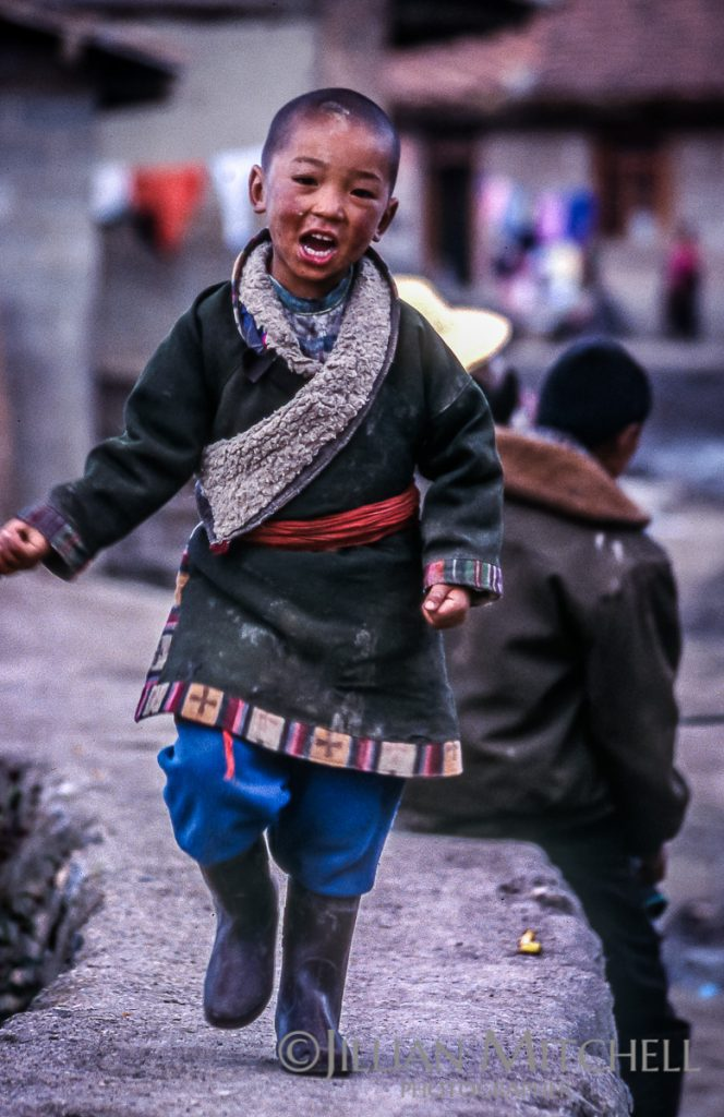 On International Childrens day, 2002 in Langmusi, China, Tibetan nomads gathered to celebrate with traditonal dancing and other activities.