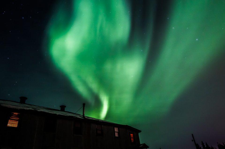 Northern Lights at Mount Aurora Lodge near Fairbanks, Alaska