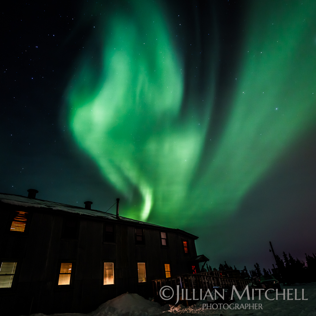 Northern Lights at Mount Aurora Lodge near Fairbanks, Alaska