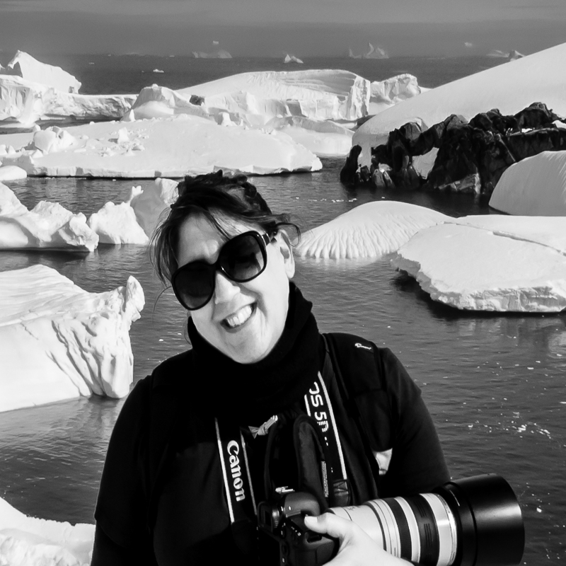 Jillian Mitchell Photographer in the Antarctic.